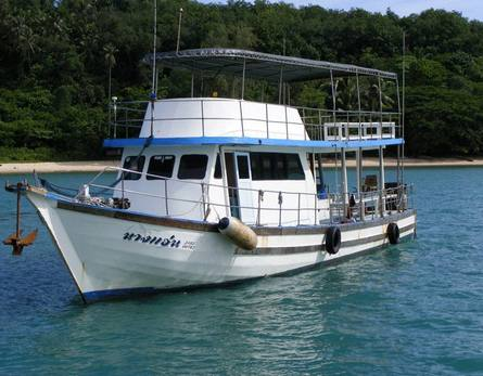 Boat for diving and/or fishing, 14 m